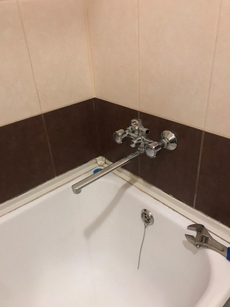 Замена смесителя в ванной на ул. Крымская, г. Раменское